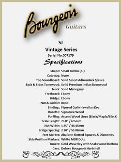 Bourgeois SJ Vintage Features