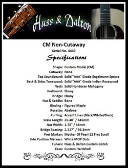 CM Non Cutaway Specifications