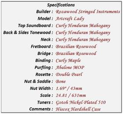 Artcraft Lady Data Sheet