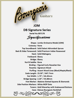 Bourgeois JOM DB Features