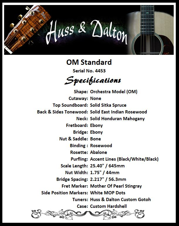 OM Standard Specifications