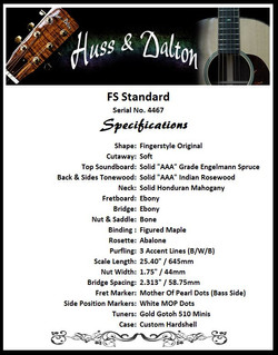 FS (Fingerstyle) Standard Specifications