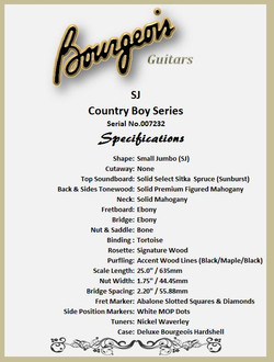 Bourgeois SJ Country Boy Features