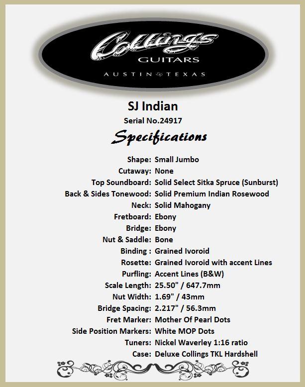 Collings SJ Indian Fearures