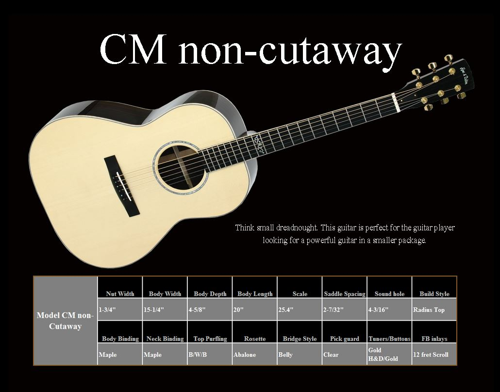CM Non Cutaway Spec Sheet