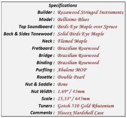 Bellisimo Blues Data Sheet