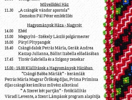 Meghívó a Csángó-Magyar Hagyományok Napjára