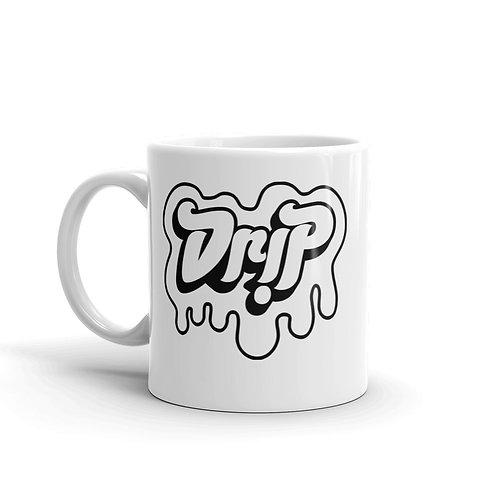 Drip White glossy mug