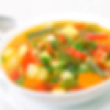 Fresh vegetable soup made of green bean,