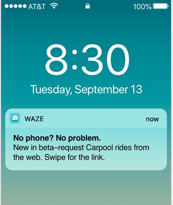 Waze reminders