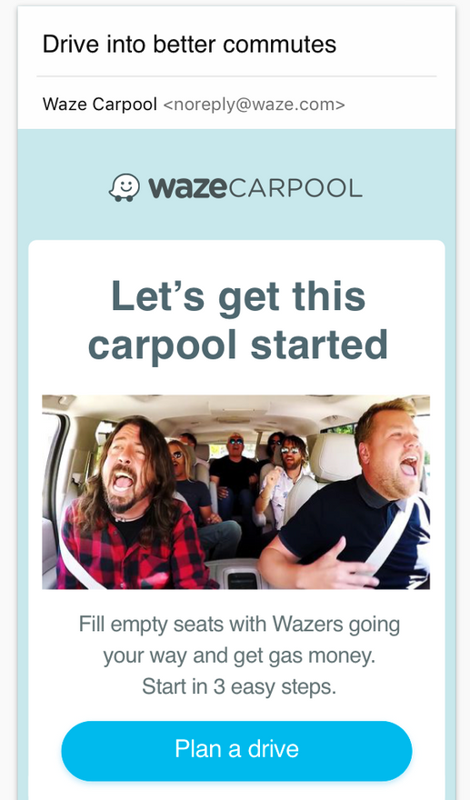 Carpool email