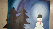 How to Paint a Winter Night Scene
