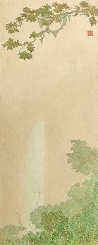 Cascade, craie sur papier.png