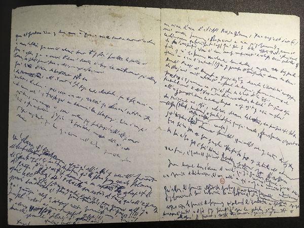 Guyotat, Notes au bord du coma, manuscri