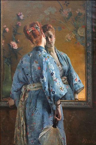 Alfred Stevens, La Parisienne japonaise,
