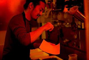 Takeda dans son laboratoire