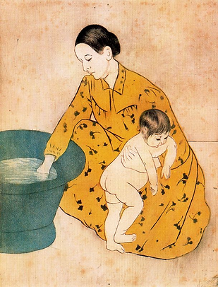 Mary Cassatt, The bath, 1891 29.5 x 24.8
