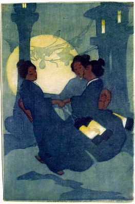 Lum, Fox Women, 1907, color woodcut,  37