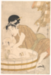 Kitagawa Utamaro, Mother bathing her son