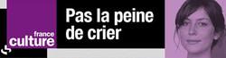 Pas la peine de crier, France Culture