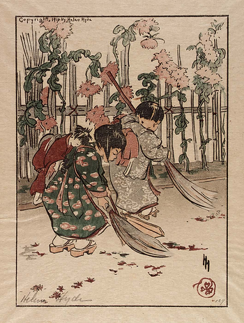 Hyde, New Brooms,1910, 17x12.4 cm. Color