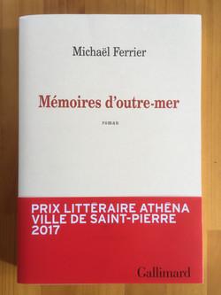 Mémoires d'Outre-mer, Prix Athéna 2017