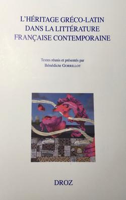 Littérature contemporaine : l'Héritage gréco-latin