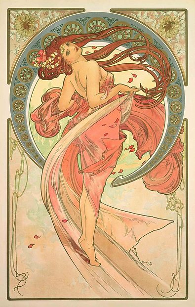 A. Mucha, The Arts- Dance, 1898 Colour l