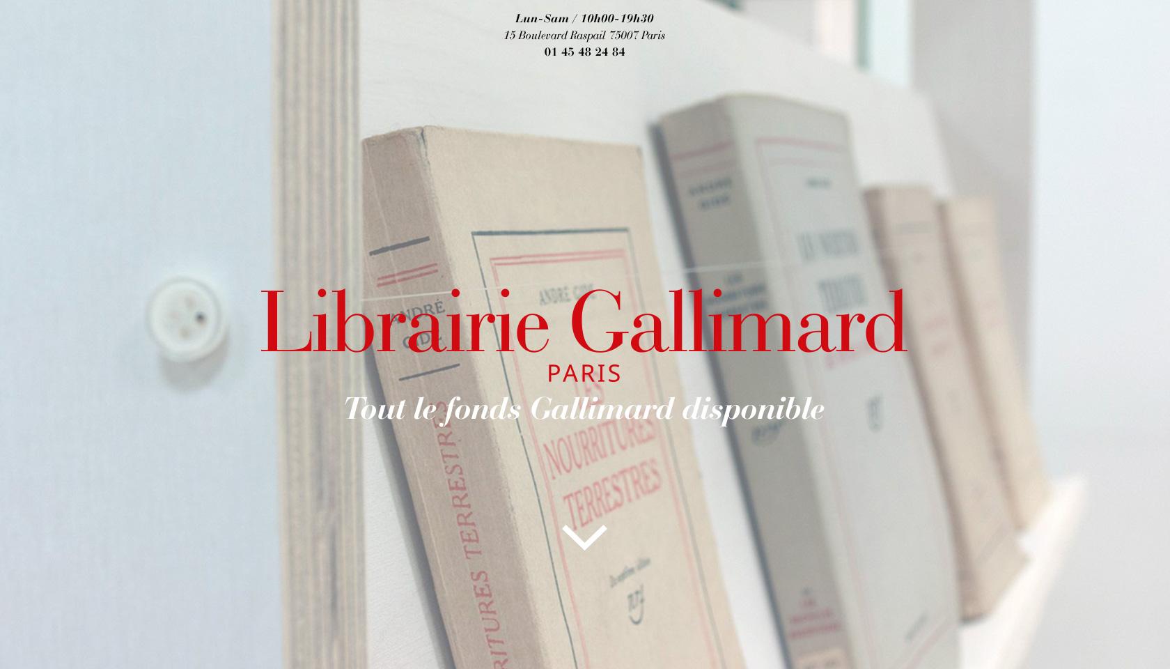 Librairie Gallimard, Paris