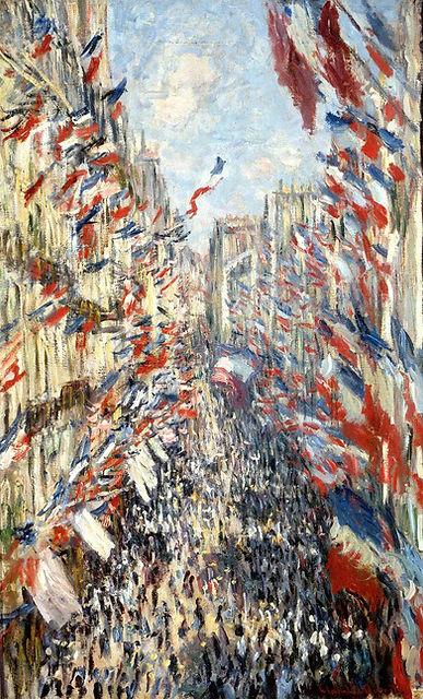 Monet, La rue Montorgueil, huile sur toi