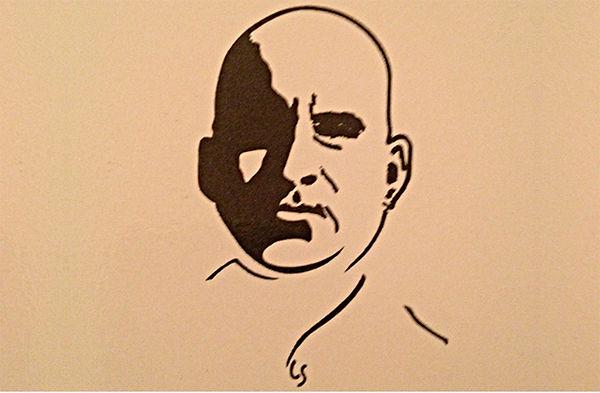 Pierre Guyotat, dessin des éditions Léo