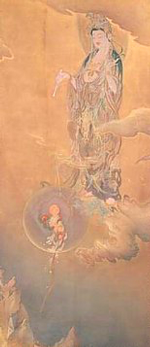 Kano Hogai, Jibo Kannon, 1888,  ink, col