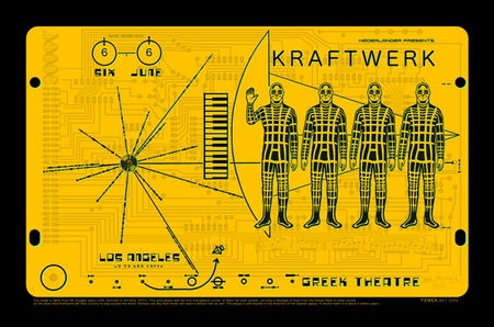 Kraftwerk concert poster at the Greek Th