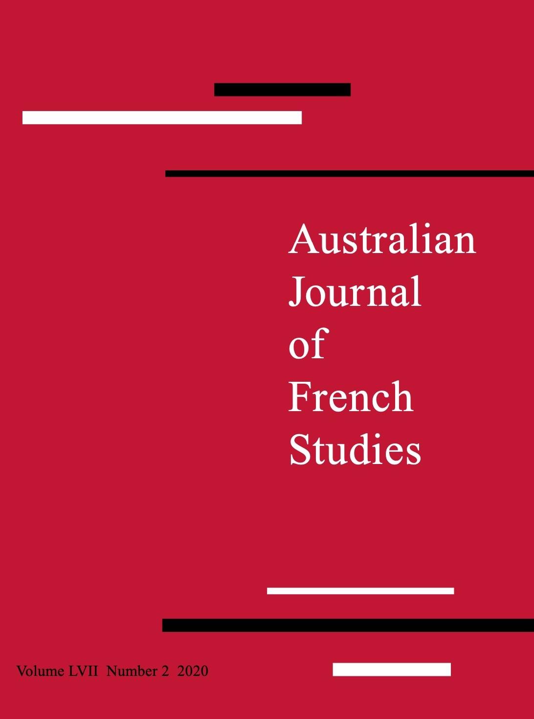 Australian Journal of French Studies, vol. 57, 2020