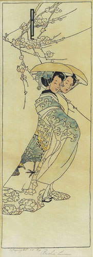 Lum, Geisha Girls, 1908. Color woodcut,