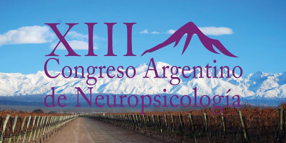 XIII CONGRESO ARGENTINO DE NEUROPSICOLOGÍA