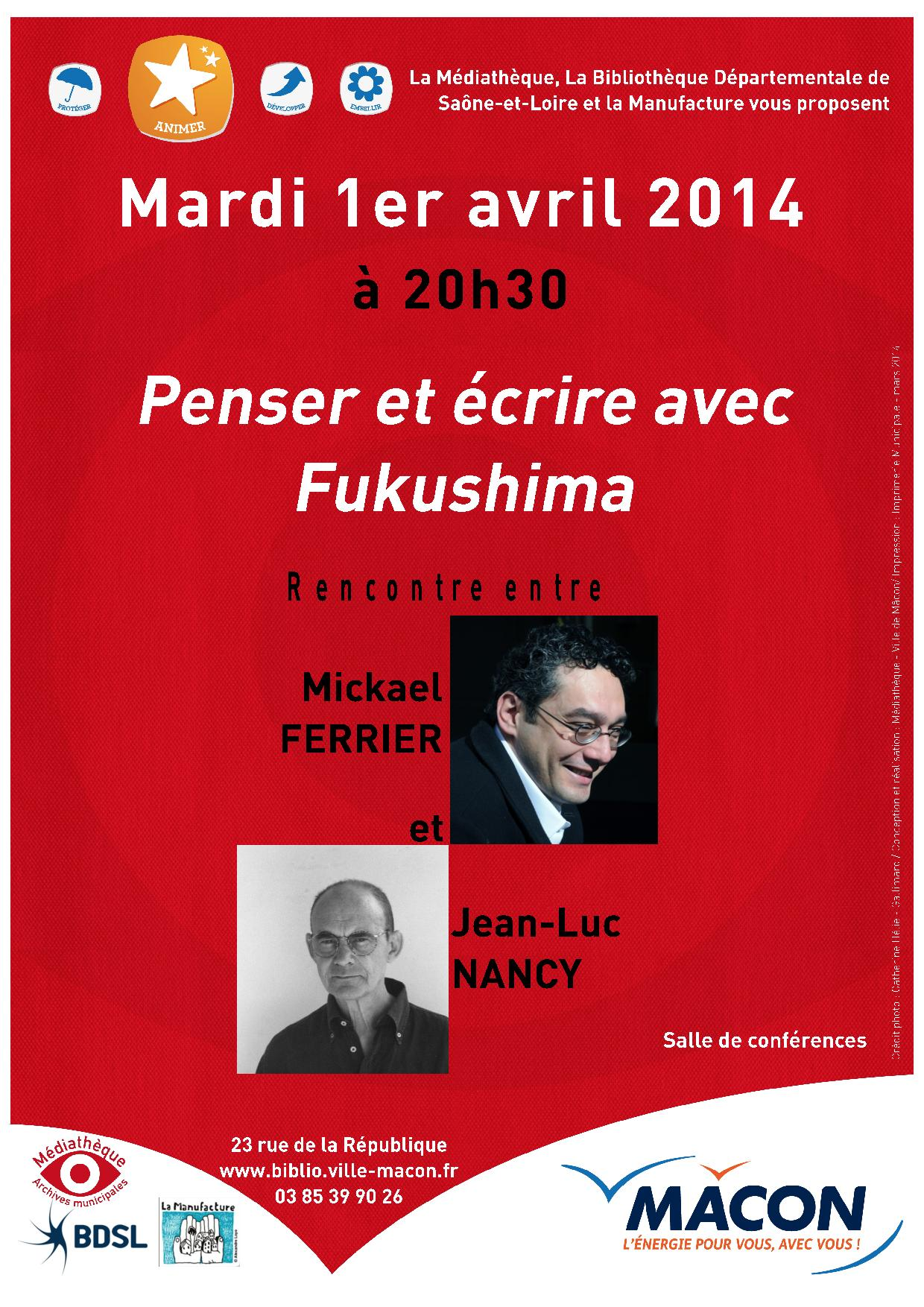Michaël Ferrier-Jean-Luc Nancy, 2014