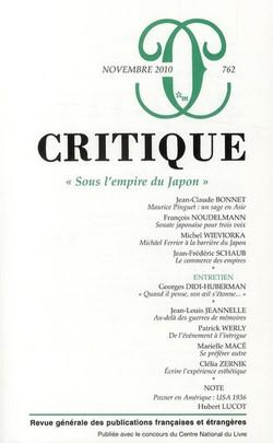 Critique spécial Japon, 2010