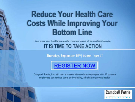 Reducing Your Health Care Costs While Improving Your Bottom line