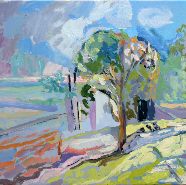 Tree of another place 2016 oil on polyester 56 x 66cm. Private collection.