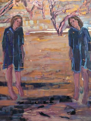 Double self (Valley between doubt and dream)138 x 152cm.jpg