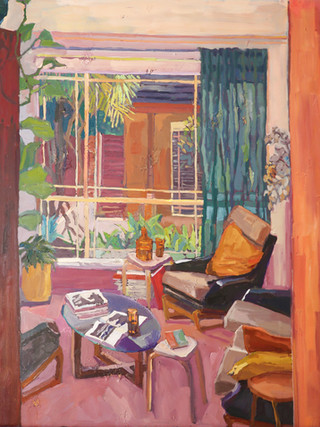 Nicole Kelly_Window or The pink room_89 x 73.5 cm_oil on polyester.jpg