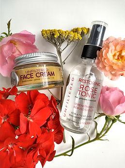 restoring rose tonic face cream