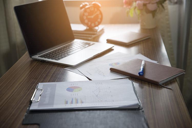 Business executive office Desk Backgroun