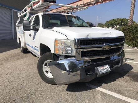 Front end damage.