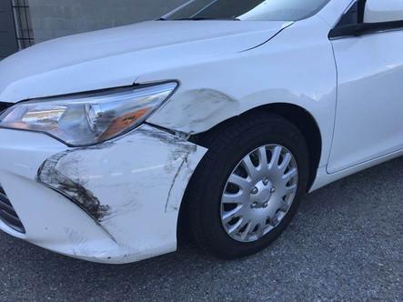 Damage to multiple panels.