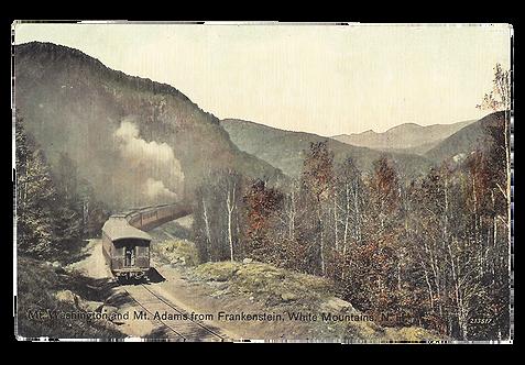 Framed Postcard: Mt. Washington, Mt. Adams, NH