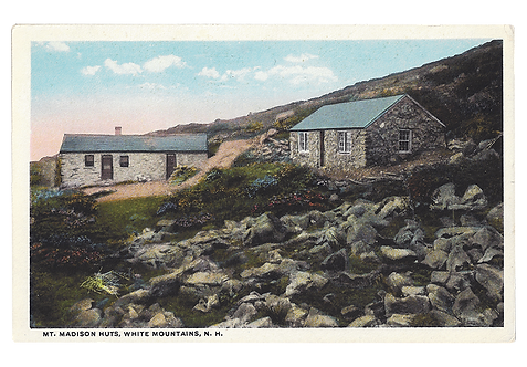 Framed Postcard: Mt. Madison, White Mountains, NH