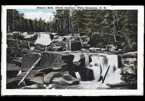 Framed Postcard: Diana's Bath, NH