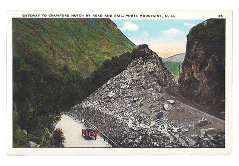 Framed Postcard: Gateway to Crawford Notch, NH